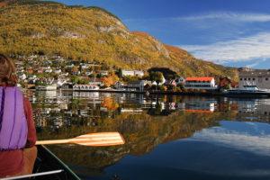 Aurlandsvangen fra kano -