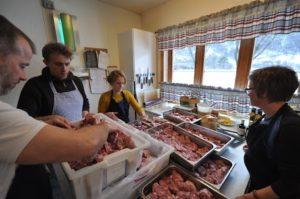kokekurset får kjekjøtt i frå parteringskurset
