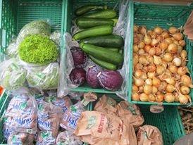 rikt utvalg av grønnsaker