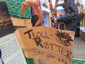 Trollrøtter slo godt ann, særleg hos dei aller yngste kundane