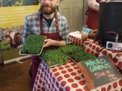 Jannik Mennen, innehavar av Lean Green UB under marknad på Voss.